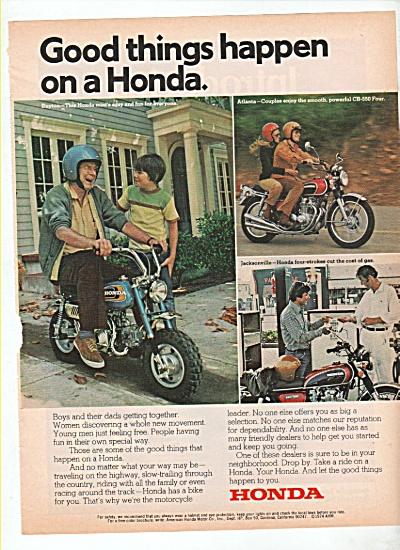 Honda motorcycles ad 1974 (Image1)