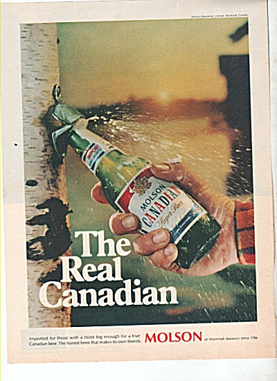 Molson Canadian lager beer ad 1969 (Image1)