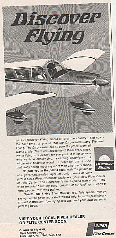 Piper flite center ad 1969 (Image1)