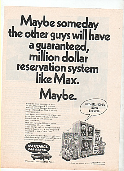 National car rental ad 1969 (Image1)