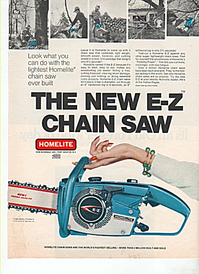 Homelite e-z chain saw ad 1969 (Image1)