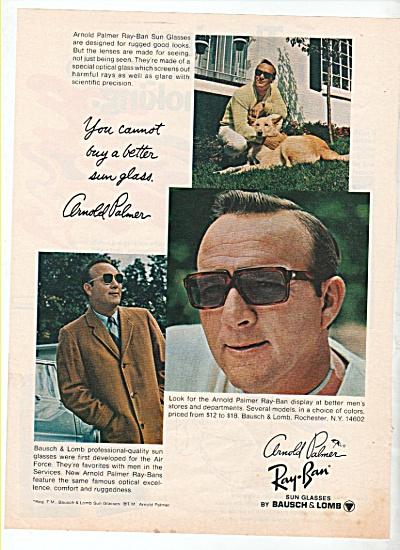 Ray Ban sun glasses - ARNOLD PALMER ad 1969 (Image1)