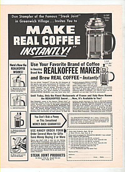 Steak Joint products - Instant coffee ad 1964 (Image1)