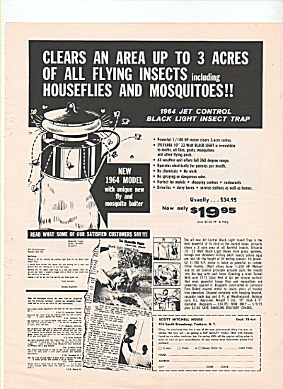 Jet control black light insect trap ad 1964 (Image1)
