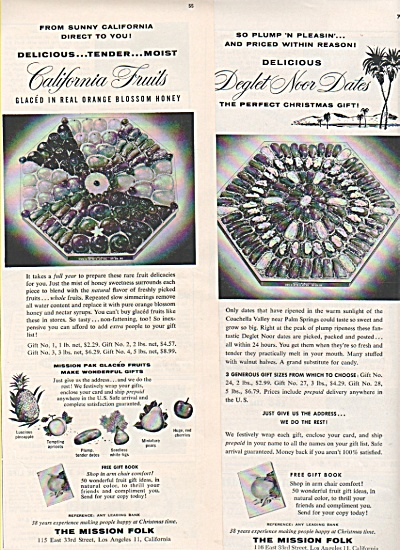 The Mission Folk  dates & fruits ad 1956 (Image1)