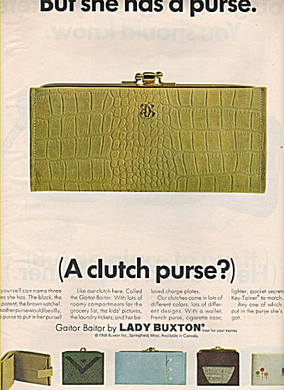 Lady Buxton Products Ad 1968