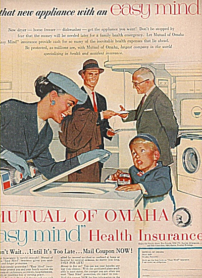 Mutual of Omaha insurance ad 1956 (Image1)