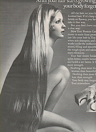 Toni protein conditioner ad 1968 (Image1)