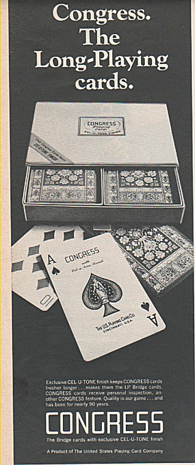 Congress playing cards ad 1968 (Image1)