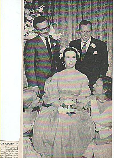 GLORIA VANDERBILT weds 3rd time story 1956 (Image1)