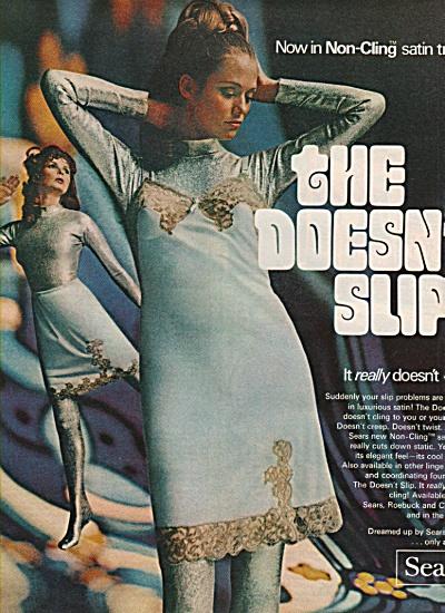 Sears roebuck -  Satin tricot slips ad 1968 (Image1)