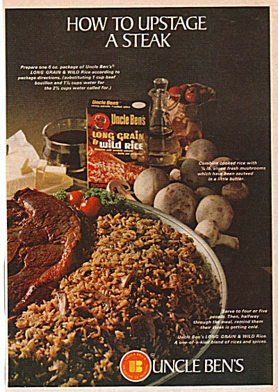 Uncle Ben's long grain and wild rice ad 1968 (Image1)
