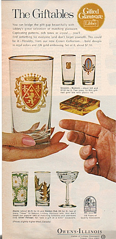 Owens-Illinois glassware  ad 1968 (Image1)
