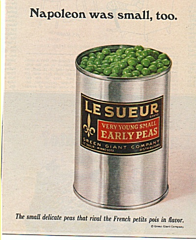 LeSueur early peas ad 1968 (Image1)