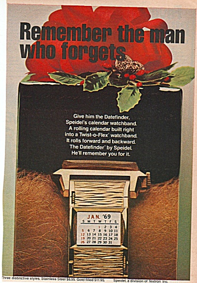 Speidel twist of lex watchband ad 1968 (Image1)