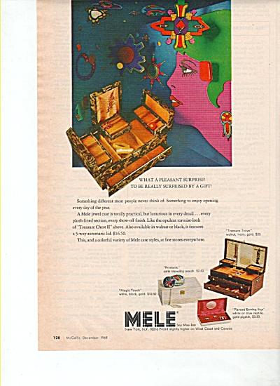 Mele jewel case ad 1968 (Image1)