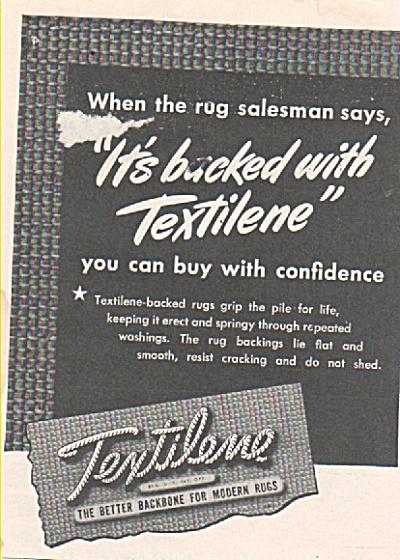 Textilene backbone for modern rugs ad 1946 (Image1)