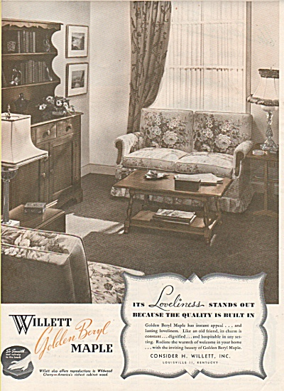 Willett golden beryl maple ad 1946 (Image1)