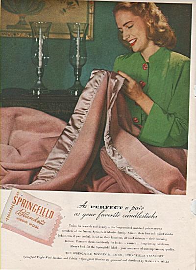Springfield blankets virgin wool ad 1946 (Image1)
