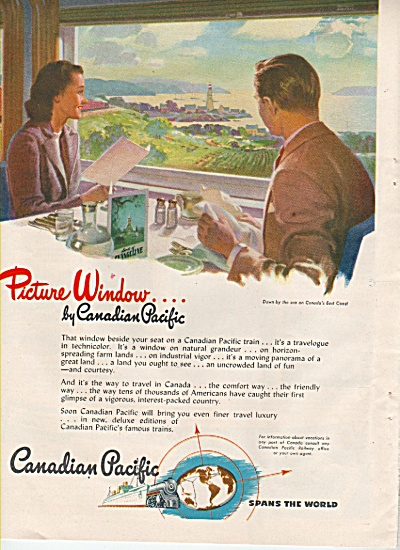 Canadian Pacific Ad 1946