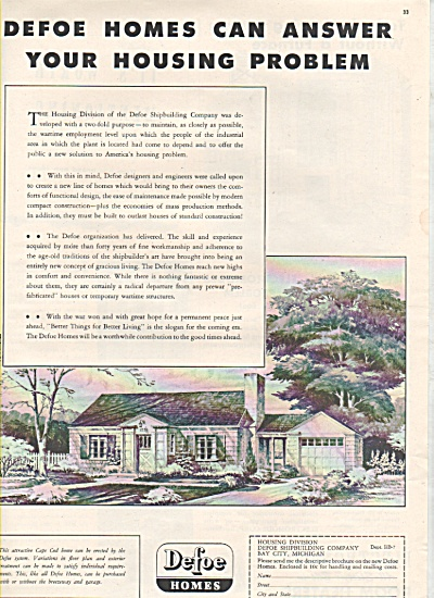 Defoe Homes ad 1946 (Image1)