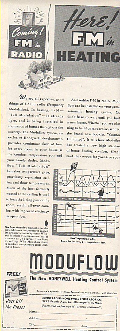 Moduflow - heating control system ad 1946 (Image1)