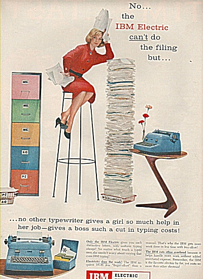 IBM electric typewriters ad 1956 (Image1)