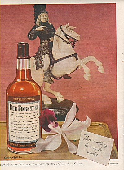 Old Forester bourbon whisky ad 1946 (Image1)