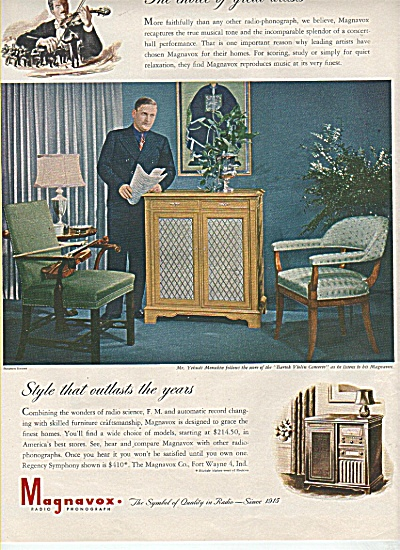 Magnavox television ad  1946 (Image1)