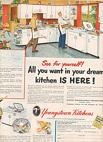 1952 Youngstown Kitchens Men Cooking Ad (Image1)
