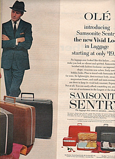 Samsonite sentry luggage ad 1963 (Image1)