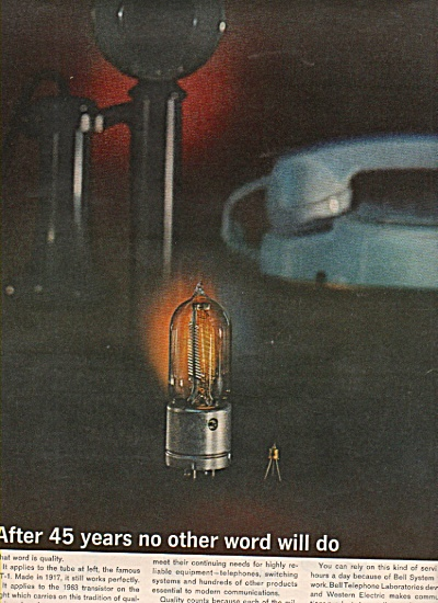 Western Electric Ad 1953 Transistor No Other Will Do