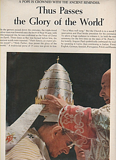 Pop VI  becomes Pope in Rome story - 1963 (Image1)