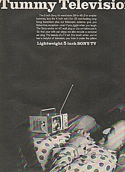 Sony TV - tummy television ad 1956 (Image1)
