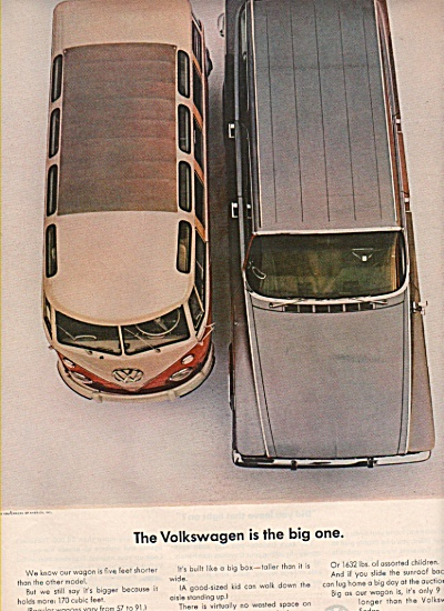 Volkswagen Ad 1963 Van And Car