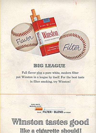 Winston filter cigarettes ad 1963 (Image1)