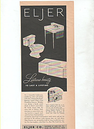 Eljer Co.  bathroom fixtures ad 1952 (Image1)