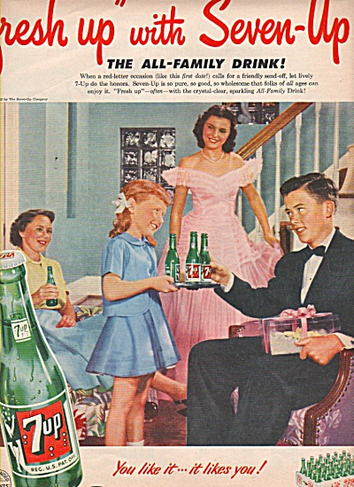 7 Up Drink Ad 1952