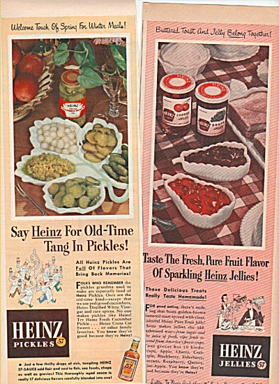 Heinz Jellies and pickles ad 1952 (Image1)