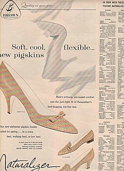 Naturalizer shoes ad 1960 (Image1)