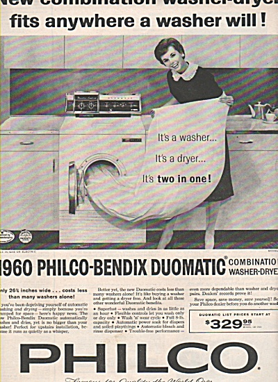 Philco washer -dryer ad 1960 (Image1)