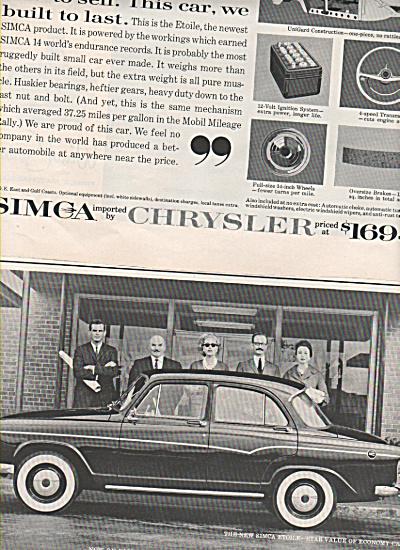 Simca Etoile auto ad 1960 (Image1)