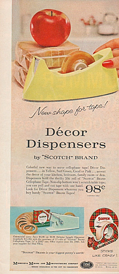 Decor Dispensers Ad 1960