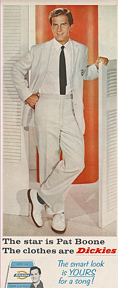 Dickies -  PAT BOONE  ad 1960 (Image1)