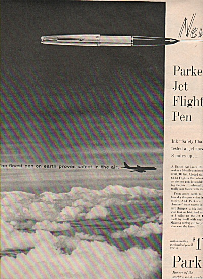 Parker 61 jet flighter pen ad  - 1960 (Image1)