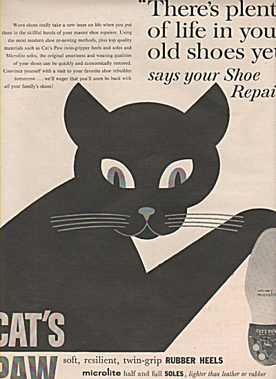 Cat's Paw rubber heels ad 1960 (Image1)