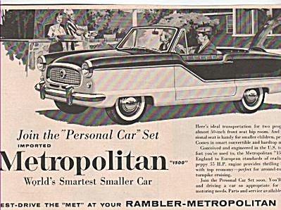 Rambler metropolitan car ad 1960 (Image1)