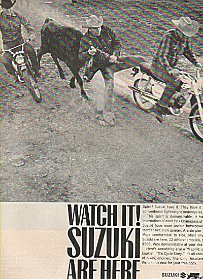 Suzuki motorcycles ad 1956 (Image1)