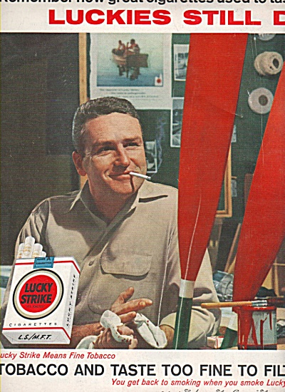 Lucky Strike cigarettes ad 1960 (Image1)