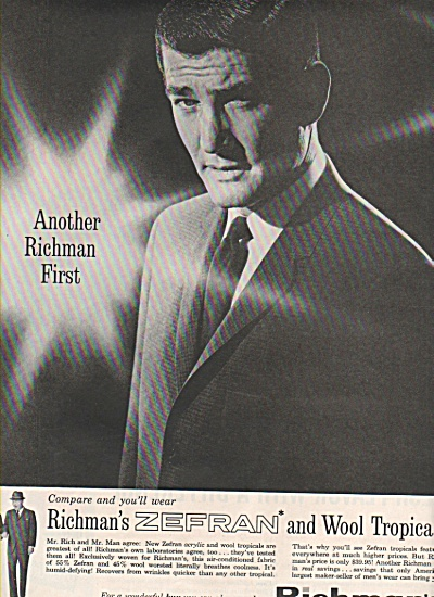 Richman's Brother Suits Ad 1961